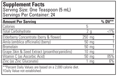 ChildLife Aller-Care Dietary Supplement Label