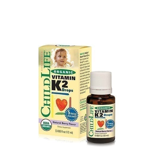ChildLife Organic Vitamin K2 Dietary Supplement for Babies, Toddlers and Children