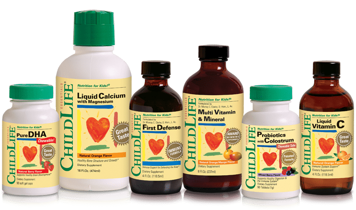 Image for Store Locator Page of ChildLife Nutritional Supplements Multi Vitamin & Mineral, Liquid Calcium with Magnesium, First Defense, Liquid Vitamin C, Pure DHA and Probiotics with Colostrum Chewable Tabs
