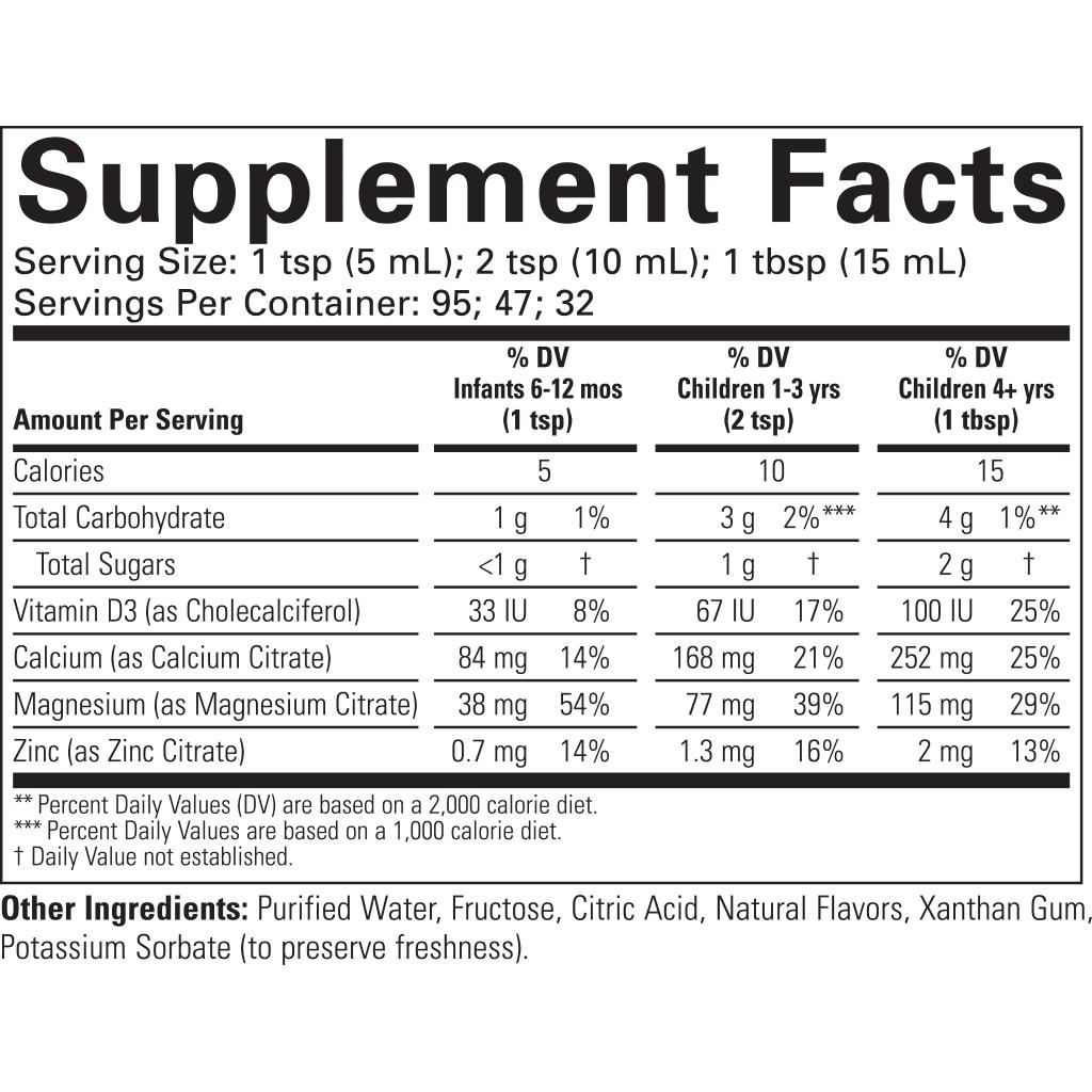 ChildLife-Essentials-Calcium-Supplement-Facts