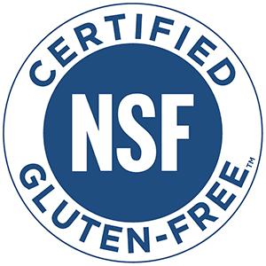 NSF Certified Gluten Free